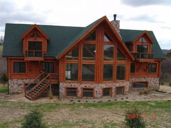Log home for sale in galena territory eagle ridge resort for Eagles ridge log cabin